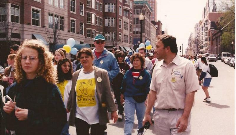 Sefer Ozdemir walk For Bosnia, Bosna icin yuruyus, Boston